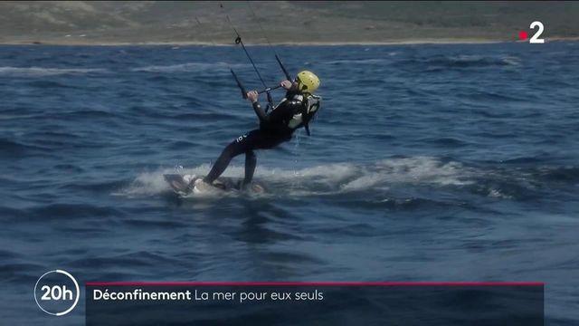 Déconfinement : en Corse, des passionnés de glisse ou de plongée ont la mer pour eux seuls