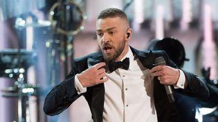 Justin Timberlake aux Oscars en février 2017.  (Aaron Poole / Photoshot / MaxPPP)