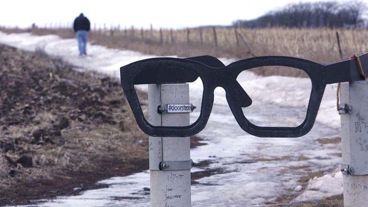 Le site du crash en Iowa, lieu de recueillement pour les fans (janvier 2015)  (Jeff Heinz)