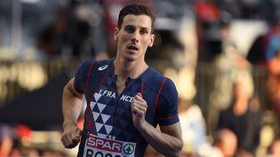 Pierre-Ambroise Bosse lors de sa demi-finale du 800 mètres, le 10 août 2018, à Berlin. (JULIEN CROSNIER / DPPI MEDIA / AFP)
