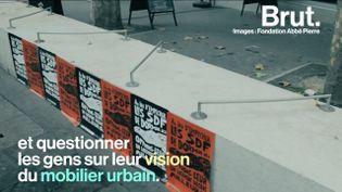 VIDEO. Un collectif belge lutte contre le mobilier urbain anti-SDF de Bruxelles  (Brut)