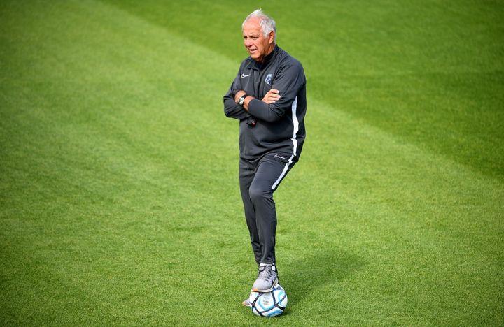 René Girard, entraîneur du Paris FC (FRANCK FIFE / AFP)