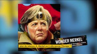 """Angela Merkel vue en """"Wonder Merkel"""" (FRANCEINFO)"""