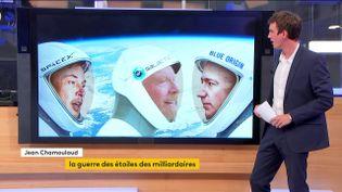 Elon Musk, Richard Branson et Jeff Bezos à la conquête de l'espace (FRANCEINFO)