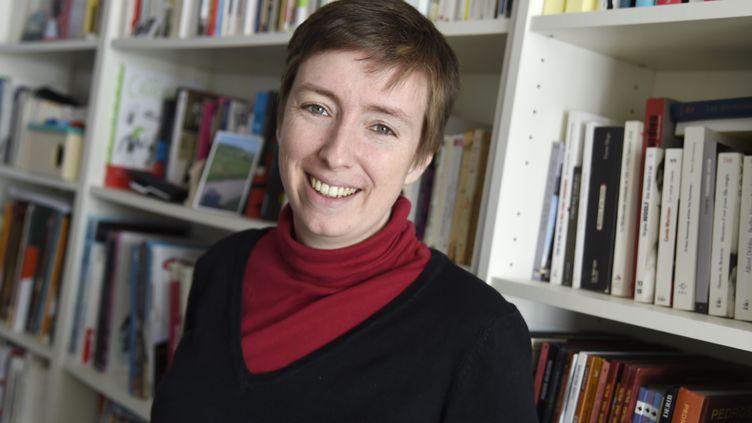 Caroline de Haas, la militanteféministe,à Paris, le 3 mars 2016. (DOMINIQUE FAGET / AFP)