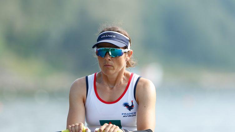 Nathalie Benoit a remportéla médaille de bronze lors de la finale A deskiff PR1W1x. (ERIC MARIE_MEDIASAVIRON / MAXPPP)