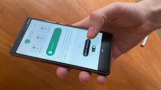 L'application StopCovid développée pour le ministère géorgien de la Santé, le 30 avril 2020. (FRANCEINFO)