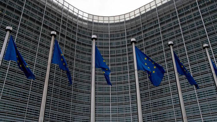 Le siège de la Commission européenne, à Bruxelles (Belgique), le 15 octobre 2020. (MARTIN BERTRAND / HANS LUCAS / AFP)