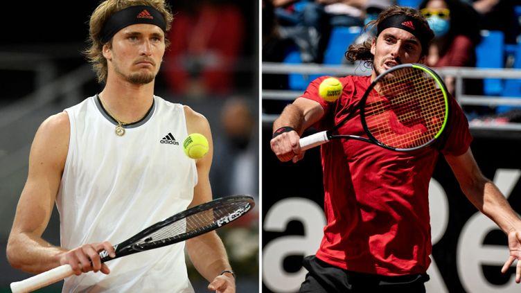 Alexander Zverev retrouve Stefanos Tsitsipas en demi-finales de Roland-Garros. Le Grec avait eu le dernier mot lors de leur dernière et seule rencontre sur terre battue. (AFP)