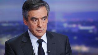 François Fillon invité dans le journal de TF1, le 26 janvier 2017 (PIERRE CONSTANT / AFP)