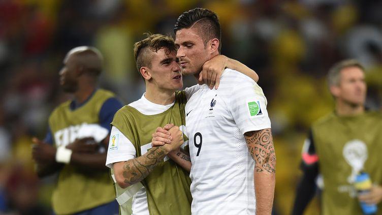 Didier Deschamps aurait choisi de titulariser Antoine Griezmann plutôt qu'Olivier Giroud face à l'Allemagne (ODD ANDERSEN / AFP)