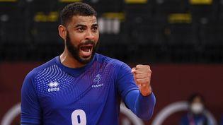 Earvin Ngapeth et les Bleus sont assurés de remporter la première médaille olympique du volley français. (CROSNIER JULIEN / KMSP)