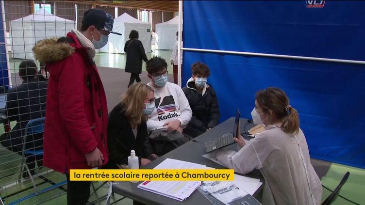 Dépistage du Covid-19 à Chambourcy (FRANCEINFO)