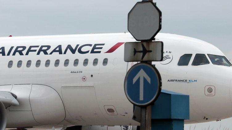Un avion de la compagnie Air France à l'aéroport Roissy Charles-de-Gaulle, le 21 juin 2012. (JACQUES DEMARTHON / AFP)