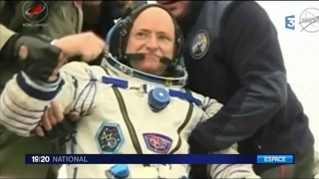 De retour sur terre après un an dans l'espace