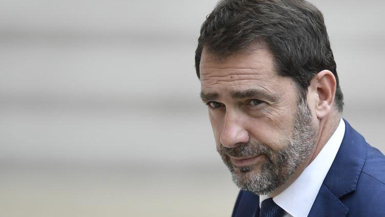 Christophe Castaner, le porte-parole du gouvernement, àl'Elysée, le 18 mai 2017. (STEPHANE DE SAKUTIN / AFP)