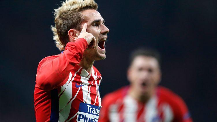 Antoiune Griezmann tout à sa joie avec l'Atlético
