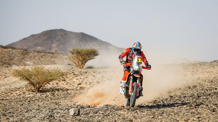 Le Britannique Sam Sunderland sur le Dakar 2021 (JULIEN DELFOSSE / ANTONIN VINCENT)