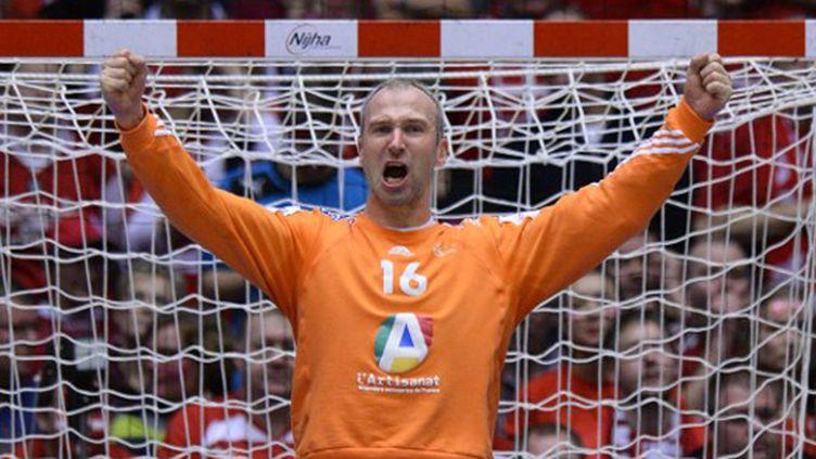 Thierry Omeyer, encore décisif avec les Bleus (JONATHAN NACKSTRAND / AFP)