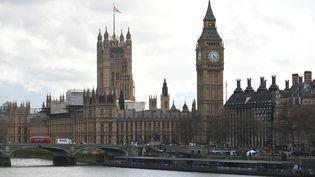 Le centre de Londres (Grande-Bretagne) avec le Parlement de Westminster, pris pour cible le 22 mars 2017. (ALBERTO PEZZALI / NURPHOTO / AFP)