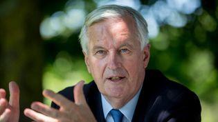 L'ancien négociateur de l'Union européenne pour le Brexit, Michel Barnier, le 10 juin 2021 à Toulouse (Haute-Garonne). (FREDERIC SCHEIBER / AFP)