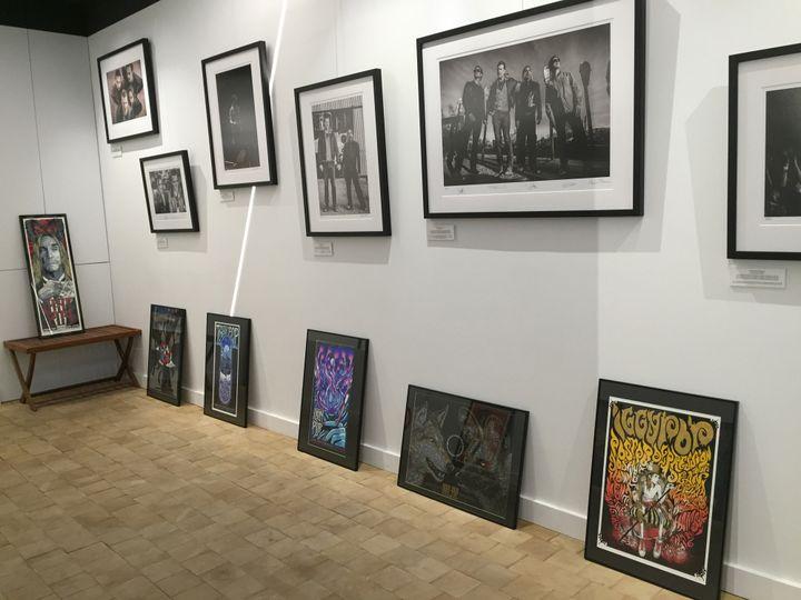 A l'intérieur de l'expositiion sur Iggy Pop à la French Paper Gallery.  (Laure Narlian / Culturebox)