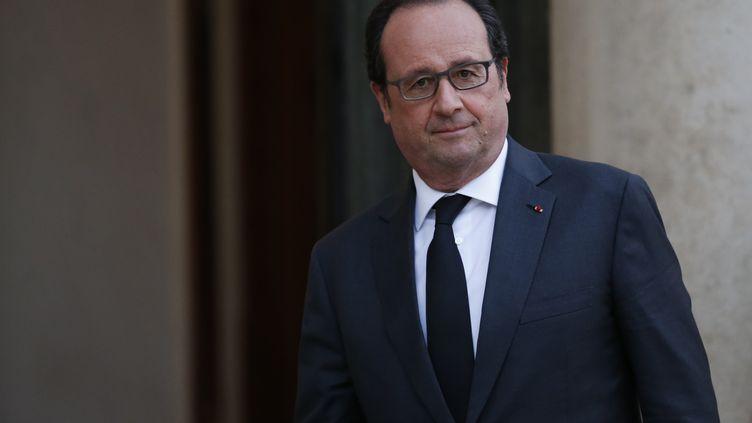 François Hollande à l'Elysée, le 13 avril 2016. (THOMAS SAMSON / AFP)