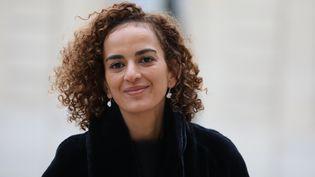 L'écrivaine franco-marocaine Leïla Slimani à l'Elysée pour une cérémonie sur la lutte contre les violences faites aux femmes, le 25 novembre 2017. (LUDOVIC MARIN / AFP)