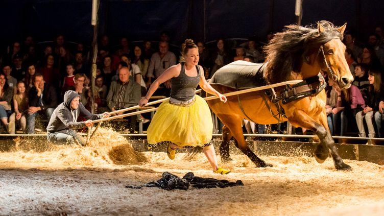 """""""Face cachée"""", un spectacle qui mêle cirque, théâtre et équitation.  (Alain Kaiser / Cie EquiNote)"""