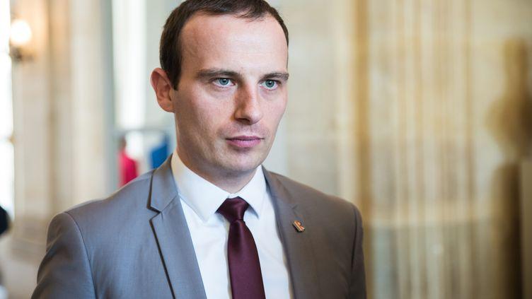 Fabien Di Filippo, secrétaire général adjoint des Républicains, député de Moselle, le 18 avril 2018. (ALEXIS SCIARD  / MAXPPP)