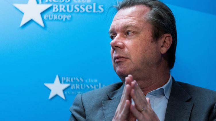 Jérôme Rivière, eurodéputé du RN, le 2 octobre 2019, à Bruxelles. (KENZO TRIBOUILLARD / AFP)