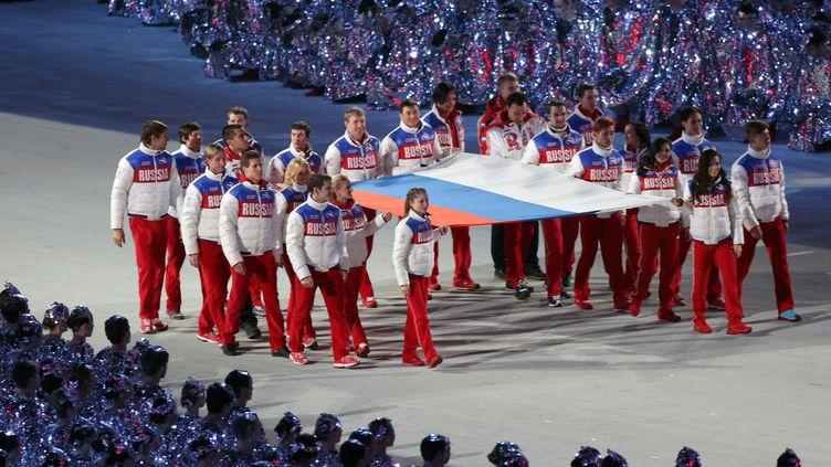 Les athlètes Russes lors des JO 2014 à Sotchi (POOL / KMSP)