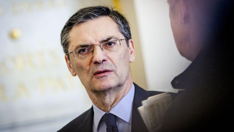 Patrick Devedjian député lors des questions au gouvernement à l'Assemblée nationale le 7 Avril 2015 (CITIZENSIDE / AURÉLIEN MORISSARD / AFP)
