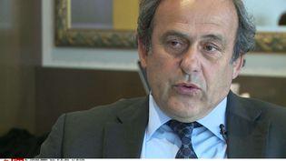 Michel Platini accorde une interview à l'agence Associated Press, à Nyon (Suisse), le 7 janvier 2016. (AP / SIPA)