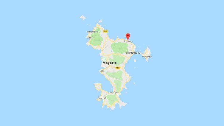 Une mère et ses quatre enfants sont morts dans la nuit du 10 au 11 janvier 2018 à Koungou, dans le nord de Mayotte, après des pluies diluviennes. (GOOGLE MAPS)