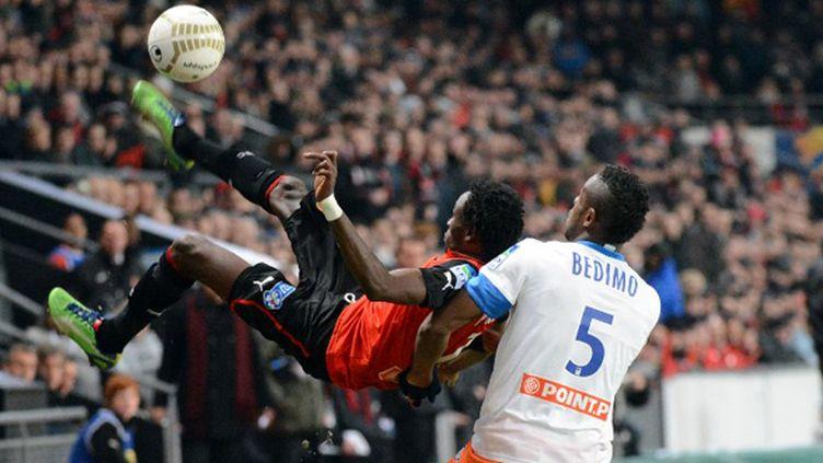 En demi-finale de la Coupe de la ligue, le 16 janvier dernier, Pitroipa et les Rennais avaient sorti Montpellier (2-0).  (DAMIEN MEYER / AFP)