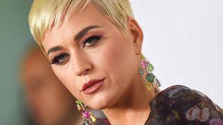 Katy Perry à Los Angeles (Etats-Unis), le 8 février 2019. (VALERIE MACON / AFP)
