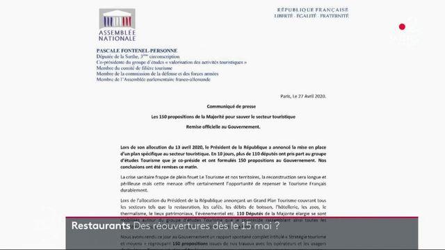 Restauration : une ouverture à partir du 15 mai dans certaines régions ?
