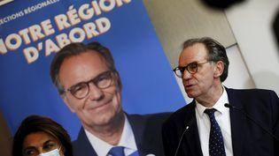 Renaud Muselier, président LR de la région Provence-Alpes-Côte-d'Azur, à Marseille le 28 avril 2021. (FRANK MULLER / MAXPPP)