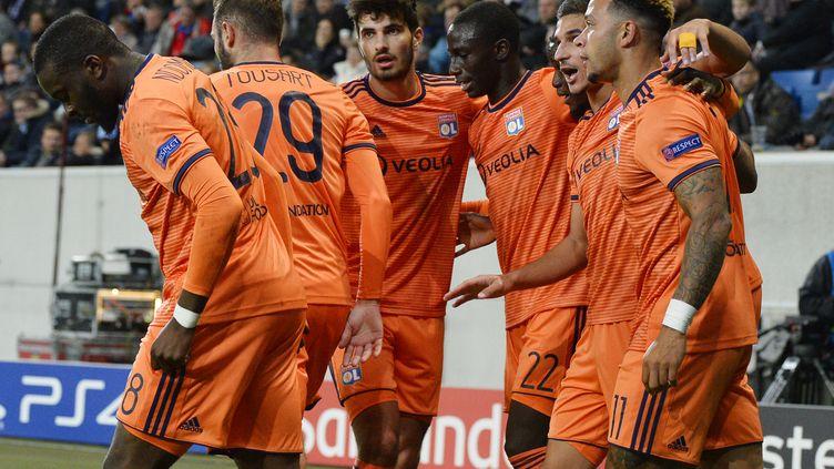 Lyon peut se placer en bonne position pour la qualification en cas de victoire (THOMAS KIENZLE / AFP)