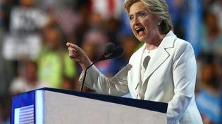 Hillary Clinton, la candidate démocrate à la présidentielle américaine, le 28 juillet 2016 à Philadelphie (Etats-Unis). (VOLKAN FURUNCU / ANADOLU AGENCY / AFP)