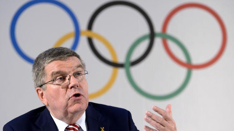Thomas Bach, président du CIO. (FABRICE COFFRINI / AFP)