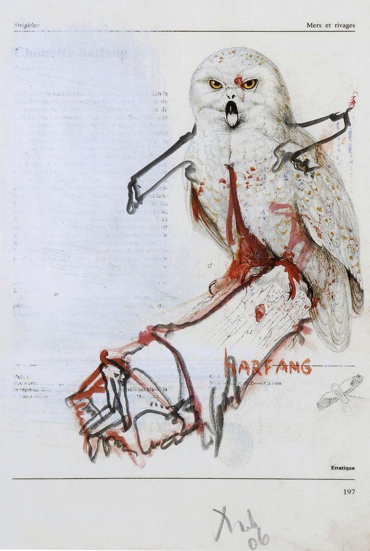 Dado, Les oiseaux d'Irène, 1989, Aquarelle et collage sur papier  (Fonds de l'abbaye d'Auberive / Dado )