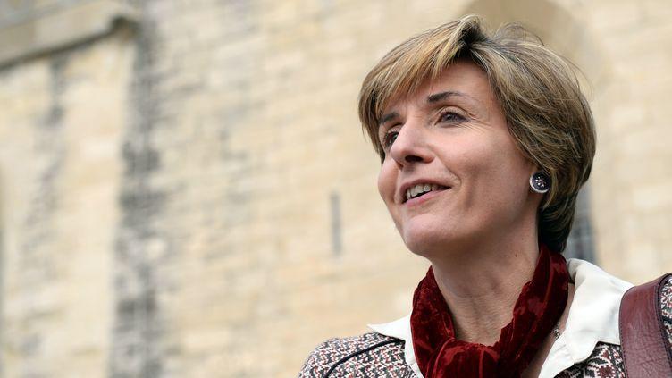 La candidate socialiste à Avignon (Vaucluse), Cécile Helle, le 11 mars 2014. (ANNE-CHRISTINE POUJOULAT / AFP)