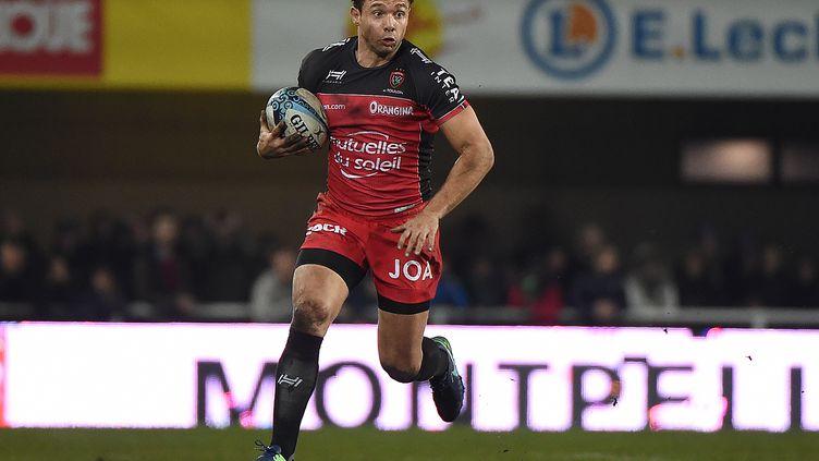 Vincent Clerc, lors d'un match du Top 14 opposant Montpellier à Toulon, le 23 décembre 2016, à l'Altrad Stadium de Montpellier. (SYLVAIN THOMAS / AFP)