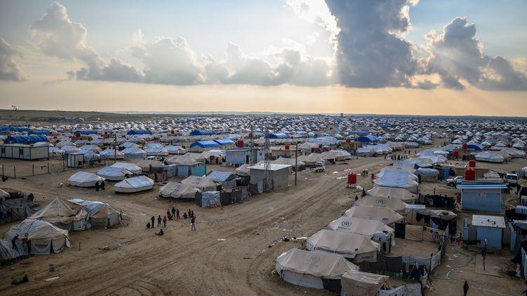 Le camp de réfugiés d'Al-Hol (Syrie), le 17 février 2019. (BULENT KILIC / AFP)