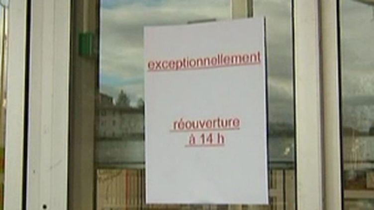 Le supermarché de Chadrac a été fermé plusieurs heures après la tentative de cambriolage (France 2)