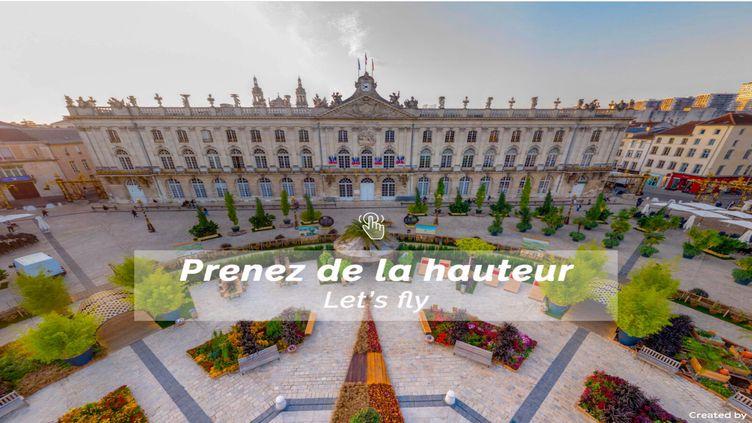 Avec visitnancy360, des balades virtuelles vues du ciel de la métropole de Nancy. (Destination Nancy / visitnancy360.com)