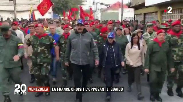 Venezuela : le France choisit l'opposant Juan Guaido