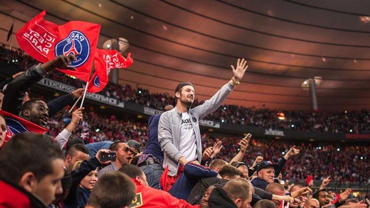 (La joie des supporters parisiens après la victoire © SIPA)